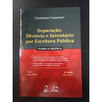 Livro Separação, Divórcio E Inventário Por Escritura Pública