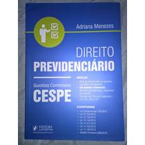 Livro Direito Previdenciário - Questões Comentadas Cespe (20