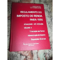 Livro Regulamento Do Imposto De Renda 1986