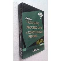 Livro Códigos Tributário, Processo Civil E Constituição Fed