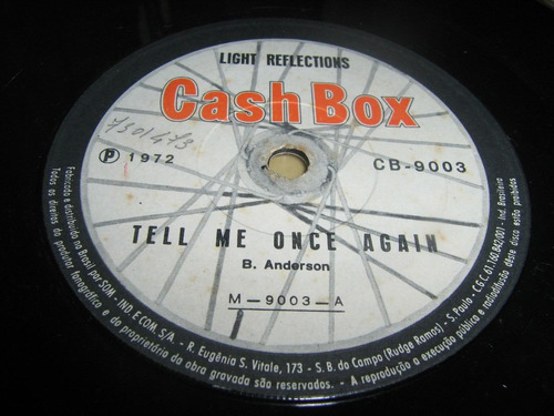 Disco De Vinil Compacto : Light Reflections ( Cash Box) 1972