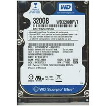 Hd Pra Notebook 320 Gb Western Digital Modelo 3200bpvt