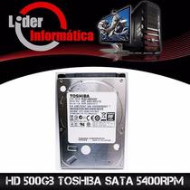 Hd Sata Para Notebook Netbook 500gb 5400 Rpm Toshiba Mq01ab