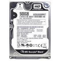 Hd Western Digital Sata 500gb 7200rpm Notebook Wd5000bpkt
