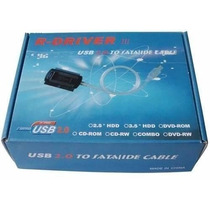 Cabo Adaptador Usb 2.0 Ide Sata Hd Dvd Conversor Pc