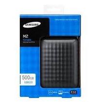 Hd Externo 500gb Usb 3.0 E 2.0 Original Samsung M3 Na Caixa