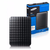 Hd Externo 500gb Samsung M3 Portable Usb 3.0 - Preto