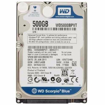 Hd Notebook 500gb 5400rpm Sata3 Wd500bpvt - Western Digital
