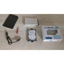 Hd Externo De 80gb Hp + Case De Bolso Compacto 2,5