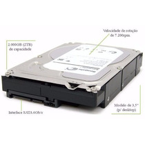 Hd 2tb Seagate 7200 Sata 3 2000gb 2 Tb Gb Pc 3,5 Dvr Desktop