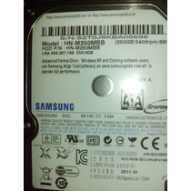 Hd Notebook Sata 250gb Samsung M250mbb E Hm251ji - Novo