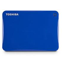 Toshiba Hd Externo 500gb Connect Ii Usb3.0 Azul Hdtc805xl3a1