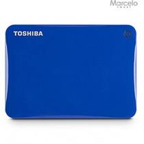 Hd Externo Portátil Toshiba 500gb Canvio Connect Ii Azul