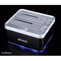 Dock Station Dual Hd 2,5 / 3,5 Sata - Usb Akasa ·