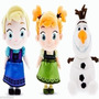 Kit 3 Bonecas De Pelucia Frozen Elza Ana Olaf Baby Musical