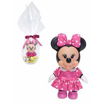 Boneca Minnie C/ Vestidinho Rosa Disney Original Multibrink