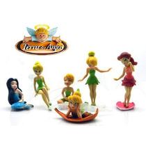 6 Bonecas Tinkerbell Fadas Coleção Sininho Disney Imp..