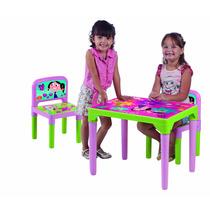 Mesa Mesinha Infantil O Show Da Luna Discovery + 2 Cadeiras