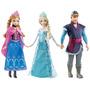 Disney Frozen Elsa + Anna + Kristoff, 3 Bonecos Tipo Barbie