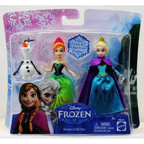 Frozen Kit Com 3 Bonecos Elsa Anna Olaf Pronta Entreg Mattel