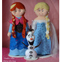 Kit Personagens Frozen Feltro: Anna, Elsa E Olaf