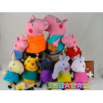 Peppa Pig Família Amigos 9 Bonecos Papai Mamãe Completo Turm