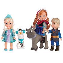 5 Bonecos Turma Do Frozen Olaf Anna Elsa Sven E Cristofer