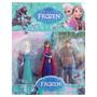 Kit Com 3 Bonecos Em Pvc Do Filme Frozen Elsa, Anna Kristoff