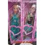 2 Bonecas Princesa Ana E Rainha Elsa Disney Frozen 95cm