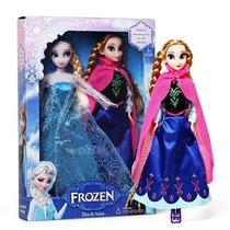 Kit Bonecas Frozen Rainha Elsa E Princesa Anna 29cm + Caixa