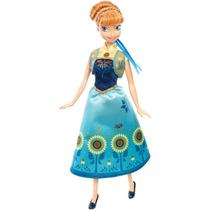 Boneca Anna Frozen Fever Disney Mattel Dgf57