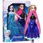 2 Bonecas Do Filme Frozen Disney Anna E Elsa Pronta Entrega-