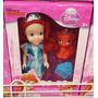 Mini Miniatura Boneca Princesa Disney Sereia Ariel + Brindes