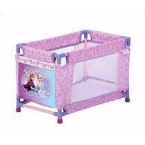 Berço + Carrinho Para Boneca Frozen Princesas Disney
