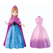 Boneca Magiclip Frozen Anna Original Mattel A Pronta Entrega