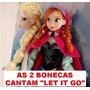 2 Bonecas Do Filme Frozen Disney Anna E Elsa Pronta Entrega.