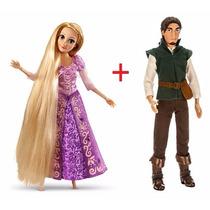 Kit Boneca Princesa Rapunzel E Flynn Original Disney Store