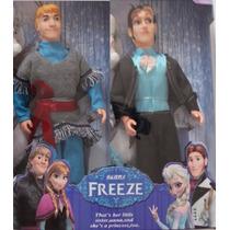 Kit 2 Bonecos Frozen Kristoff E Príncipe Hans 30cm De Altura