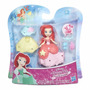 Boneca Mini Princesas Disney C/ Vestido Ariel Hasbro B5327