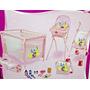 Kit Carrinho+cadeira+berço+bolsa+acessorios Princesas Disney