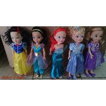 Princesas Disney 05 Bonecas Original Disney 40 Cm Articulada