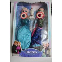 Boneca Do Filme Frozen Musical Anna E Elza Com Olaf