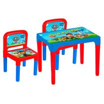 Mesa Patrulha Canina Mesinha Infantil C/ 2 Cadeiras Original