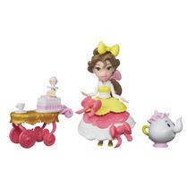 Princesas Disney Mini Boneca E Acessórios Carrinho Chá Bela