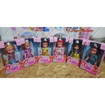 Kit Com 6 Bonecas Princesas Disney * Branca De Neve * Ariel