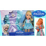 Kit Boneca Princesas Frozen Com Fantasia Vestido Para Menina