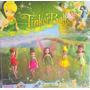 Kit 5 Bonecas Fada Tinker Bell Disney Pvc Brinquedo Meninas