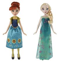 Boneca Frozen Fever Elsa E Anna Febre Congelante Original