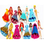 Bonecas Magic Clip Conjunto 8 Princesas Disney Com Vestido