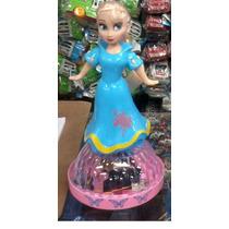 Boneca Do Filme Frozen Musical Elsa Bailarina Com Luminoso